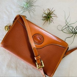 Dooney & Bourke Mini Zip Top Peanut Tan Crossbody